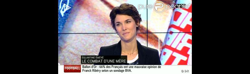 Eglantine Eméyée, invitée de Matthias Gurtler (rédacteur en chef du magazine  Gala ), dimanche 12 janvier, dans  La Semaine des Médias  sur i-Télé.