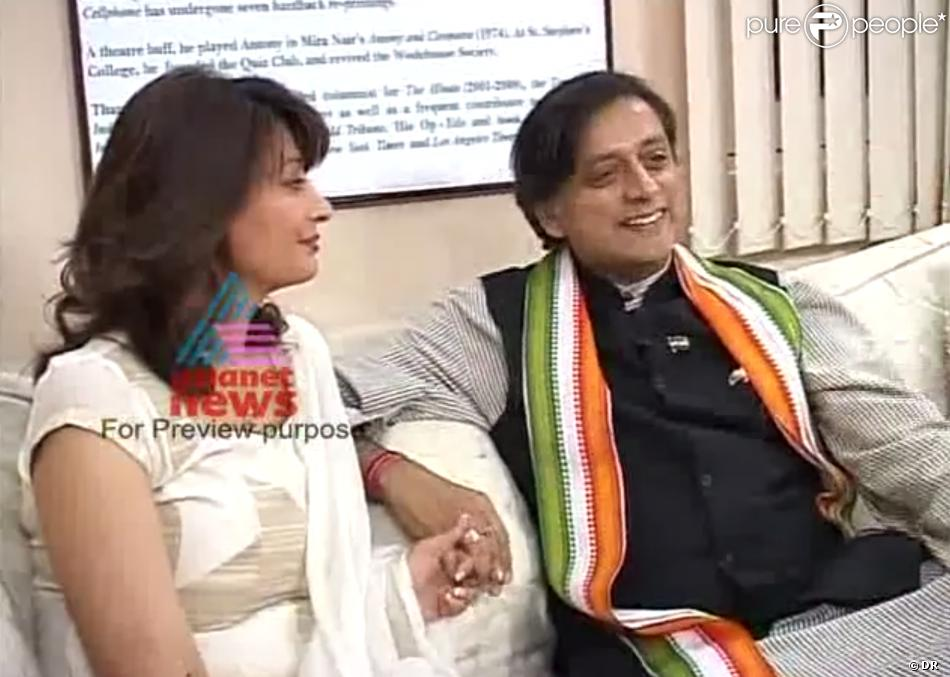C C N   (( Curiosities & Catastrophies News   )) - Page 5 1361593-shashi-tharoor-et-son-epouse-sunanda-950x0-1