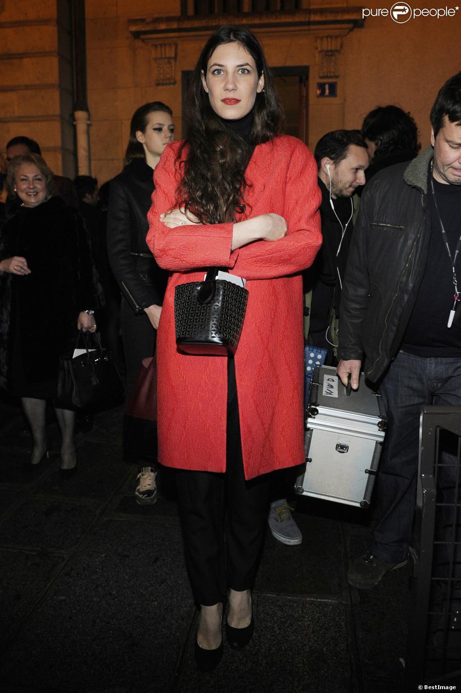 Tatiana Santo Domingo, épouse d'Andrea Casiraghi, au défilé haute couture Giambattista Valli printemps-été 2014 le 20 janvier 2014 lors de la Fashion Week à Paris.