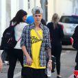 Justin Bieber sur la plage avec des amis à Miami, le 22 janvier 2014.