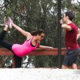 La jolie Lea Michele et Jonathan Groff font du sport à Los Angeles, le 24 janvier 2014.