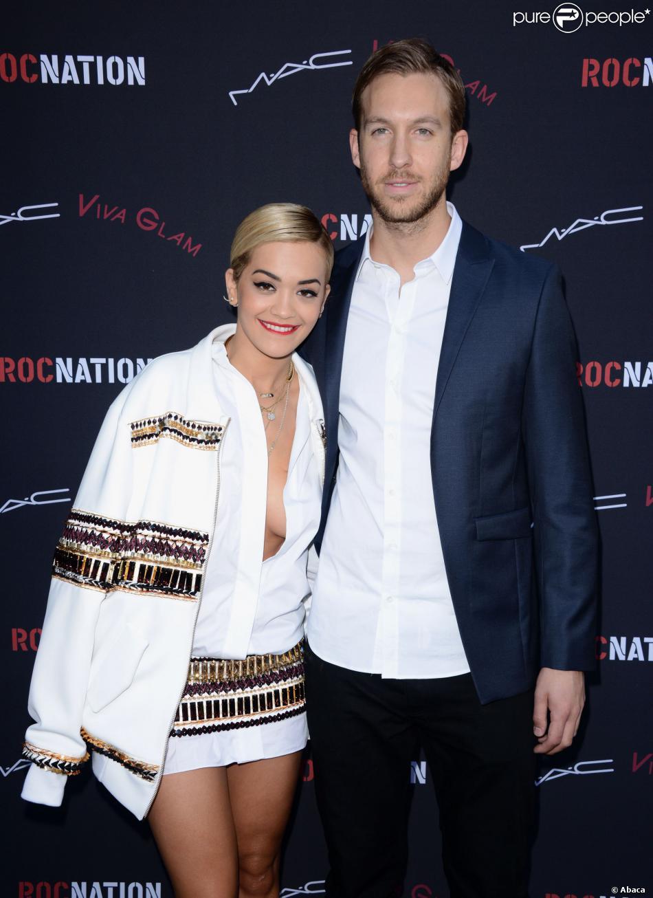 Rita Ora et Calvin Harris lors du brunch pré-Grammys organisé par le label Roc à Beverly Hills, le 25 janvier 2014.