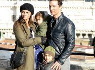 Matthew McConaughey heureux : En famille pour une virée dans la Rome historique
