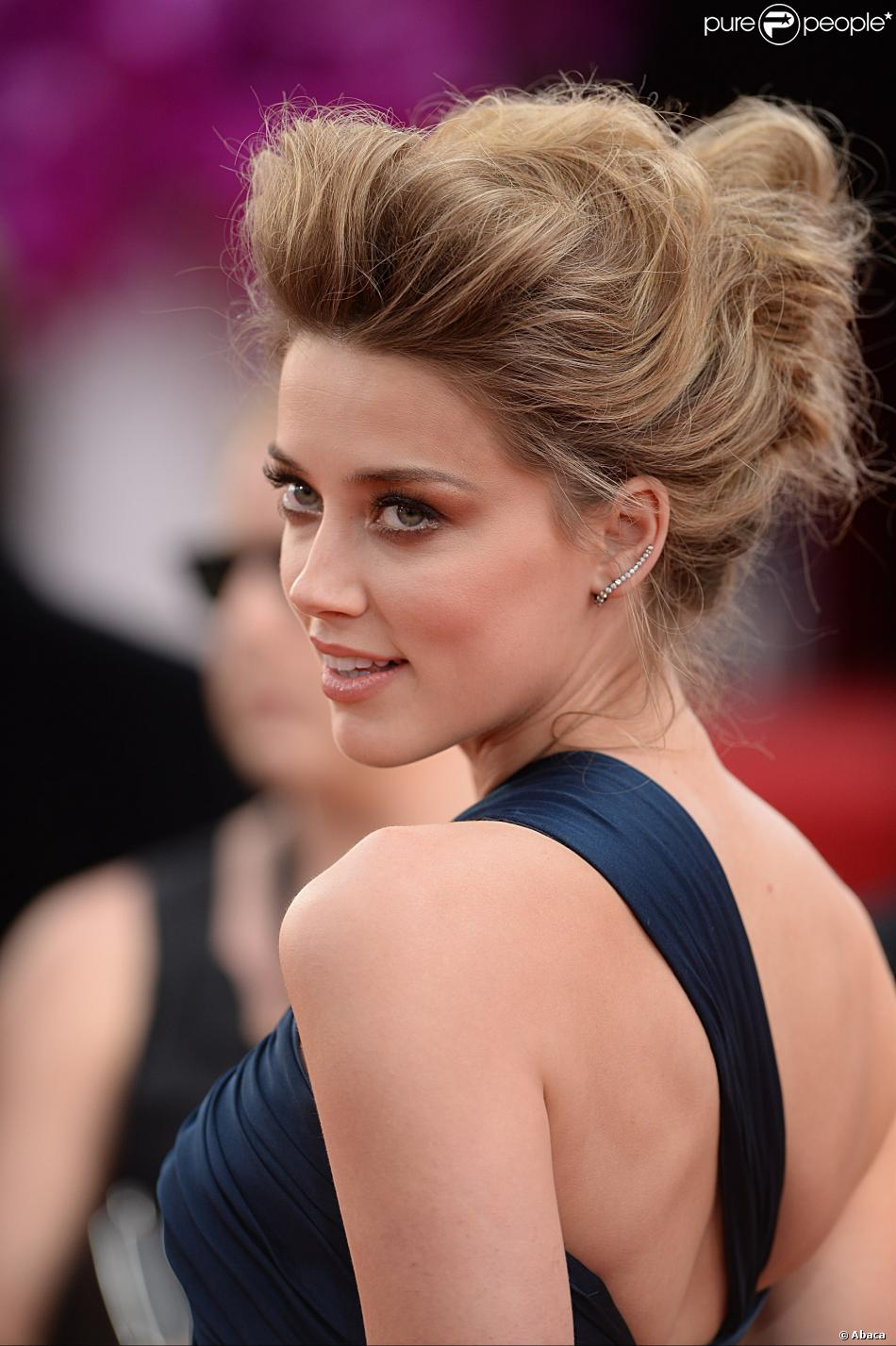 Amber Heard aux Golden Globe Awards le 12 janvier 2014.