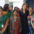 Valérie Trierweiler en Inde dans le sud de New Delhi le 14 février 2013