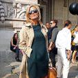 """Claire Chazal - People au défilé de mode """"Carven"""", collection prêt-à-porter printemps-été 2014, au Grand Palais à Paris. Le 26 septembre 2013."""