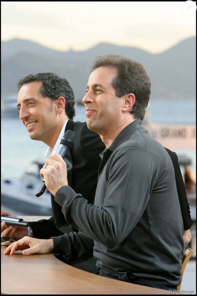 jerry seinfeld et gad elmaleh au grand journal cannes le 16 mai 2007. Black Bedroom Furniture Sets. Home Design Ideas