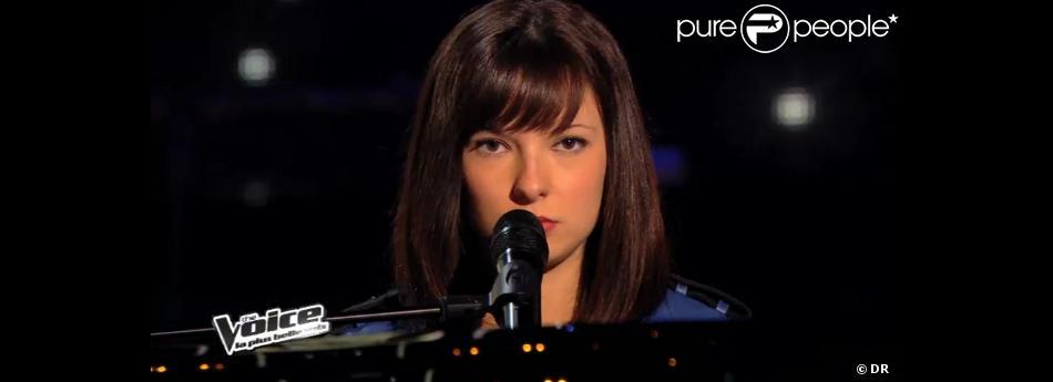 Natacha Andreani dans The Voice 3 sur TF1 le samedi 1er février 2014