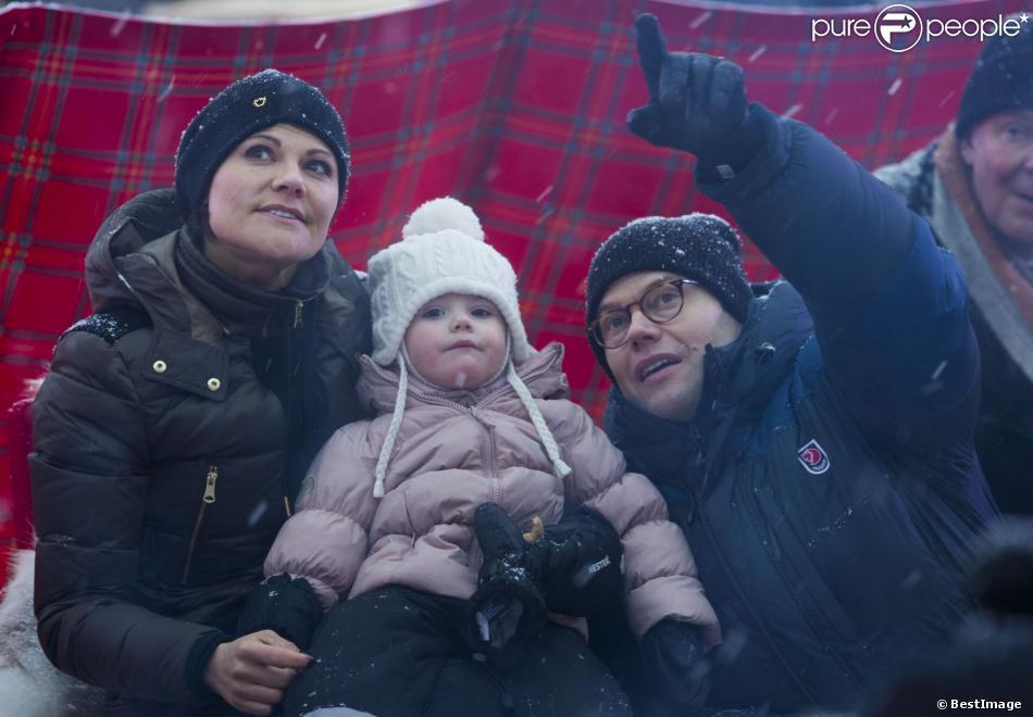 La princesse Estelle de Suède a pris part avec ses parents la princesse Victoria et le prince Daniel, le 31 janvier 2014, aux cérémonies pour le début de mandat d'Umea comme capitale européenne de la culture 2014.