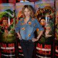 """Pauline Lefèvre (portant une chemise KillyGrind) lors de l'avant-première du film """"L'île des Miam-nimaux : Tempête de boulettes géantes 2"""" au à Paris, le 2 février 2014"""