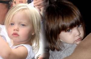 PHOTOS : Shiloh Jolie-Pitt, Suri Cruise, deux enfants stars déjà très différentes...