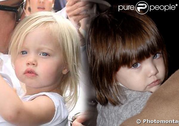 Shiloh Jolie-Pitt, Suri Cruise, deux enfants stars déjà très différentes...