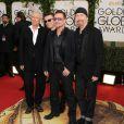 U2 aux Golden Globe Awards à Los Angeles, le 12 janvier 2014.