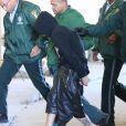 Exclusif - Khalil Sharieff, l'acolyte de Justin Bieber, arrive au commissariat à Miami, le 23 janvier 2014.