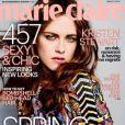 Kristen Stewart en couverture du magazine Marie Claire US, daté de février 2014.