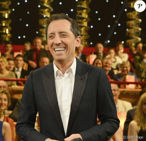"""Exclusif - Gad Elmaleh - Enregistrement de l'émission """"Le Plus Grand cabaret du monde"""" à Paris le 11 février 2014. Diffusion le 29 mars 2014."""