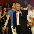 """Exclusif - Patrick Sébastien - Enregistrement de l'émission """"Le Plus Grand cabaret du monde"""" à Paris le 11 février 2014. Diffusion le 29 mars 2014."""