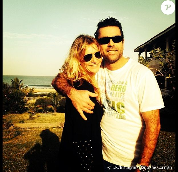 Sandrine Corman et son amoureux, et futur mari, Michel Bouhoulle