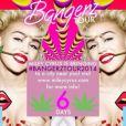 Miley Cyrus en pleines répétitions pour sa grande tournée, Bangerz Tour, prévue pour débuter le 14 février 2014.