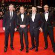 Joern Kubicki, Bertrand Delanoë, Klaus Wowereit lors de la cérémonie de clôture du 64e festival international du film de Berlin, La Berlinale, le 15 février 2014.