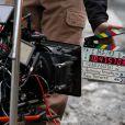 Sur le tournage de Sharknado 2: The Second One à New York le 19 février 2014.