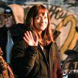 Dakota Johnson sur le tournage de Fifty Shades Of Grey à Vancouver, le 17 janvier 2014.