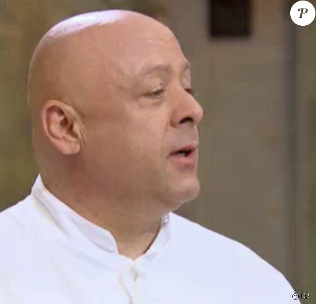"""Jean-Edern grondé par Thierry Marx. """"Top Chef 2014"""", 10 octobre 2014."""