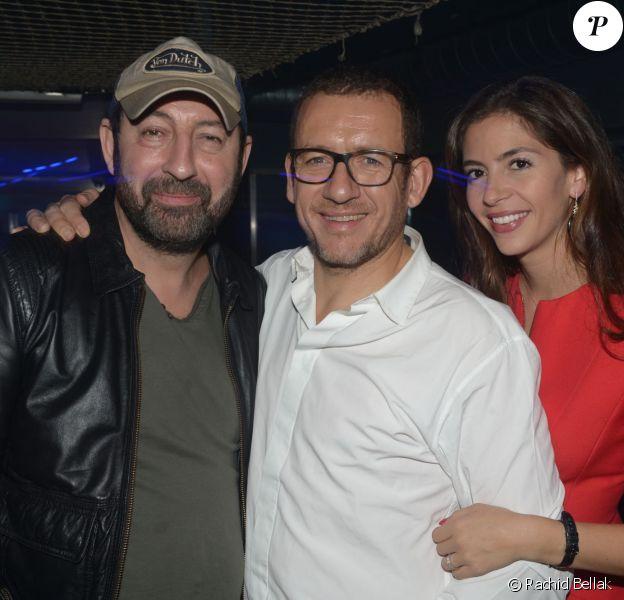 Dany Boon, avec Kad Merad et Yael Boon, fête le succès de son film Supercondriaque au Queen, Paris, le 26 février 2014.