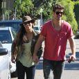Paula Patton et son mari Robin Thicke dans les rues de Beverly Hills, le 6 novembre 2012.