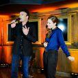 Tony Carreira et Natasha St-Pier. Showcase pour le lancement de l'album de Tony Carreira,  Nos fiancailles, France/Portugal , au No Comment à Paris, le 23 janvier 2014.