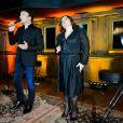 Tony Carreira et Lisa Angell. Showcase pour le lancement de l'album de Tony Carreira,  Nos fiançailles, France/Portugal , au No Comment à Paris, le 23 janvier 2014.