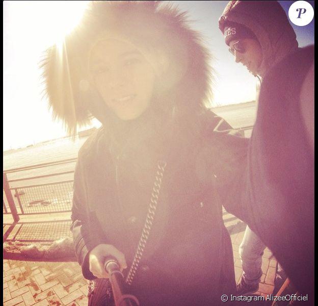 Alizée, Grégoire Lyonnet et Annily en vacances à New York le 1er mars 2014.