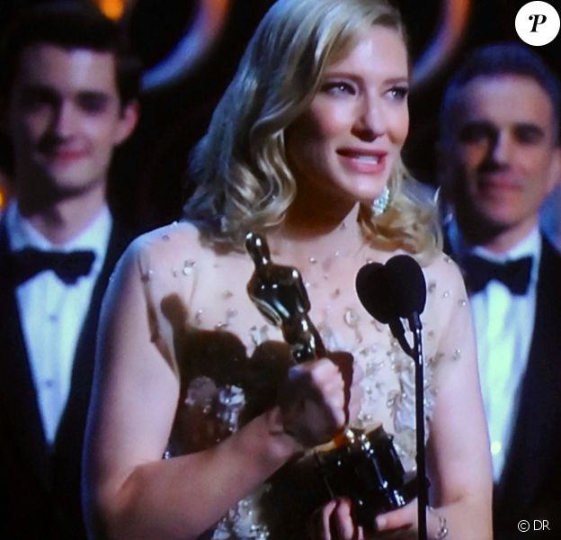 Cate Blanchett meilleure actrice aux Oscars 2014.