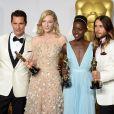 Matthew McConaughey, Cate Blanchett, Lupita Nyong'o et Jared Leto, lors de la cérémonie des Oscars le 2 mars 2014