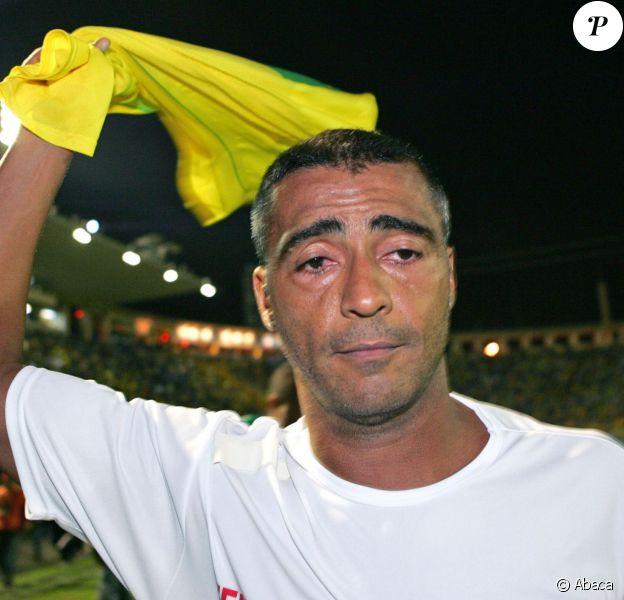 Romario à São Paulo, le 27 avril 2005.