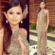 Selena Gomez à la soirée Vanity Fair, le 2 mars 2014. Photo postée par Justin Bieber.