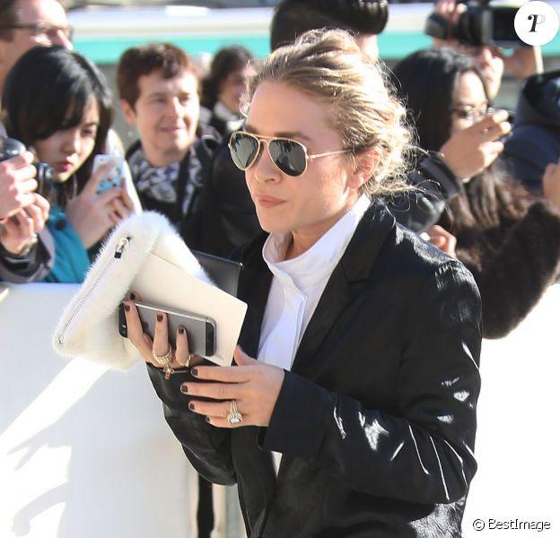 Mary-Kate Olsen au défilé Louis Vuitton à Paris, le 5 mars 2014.