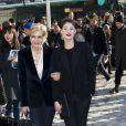 Gemma Arterton et Melita Toscan du Plantier au défilé Louis Vuitton à Paris, le 5 mars 2014.