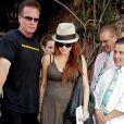 Ashlee Simpson à la sortie du restaurant The Ivy, à Los Angeles