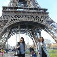 Kendall Jenner est allée visiter la tour Eiffel, à l'occasion de son passage à Paris pour la Fashion Week. Le 27 février 2014.