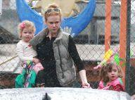 Nicole Kidman et ses fillettes sous la pluie... Son glamour en prend un coup
