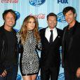 Keith Urban, Jennifer Lopez et Harry Connick Jr., le jury d'American Idol saison 13, à Los Angeles le 20 février 2014.
