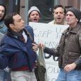 Jim Parsons sur la tournage de The Normal Heart, West Village, New York, le 17 novembre 2013.