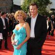 """""""Liam Neeson et sa femme Natasha Richardson à Londres, le 19 juin 2008."""""""