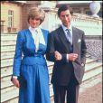 La princesse Diana et le prince Charles lors de leurs fiançailles en 1981.