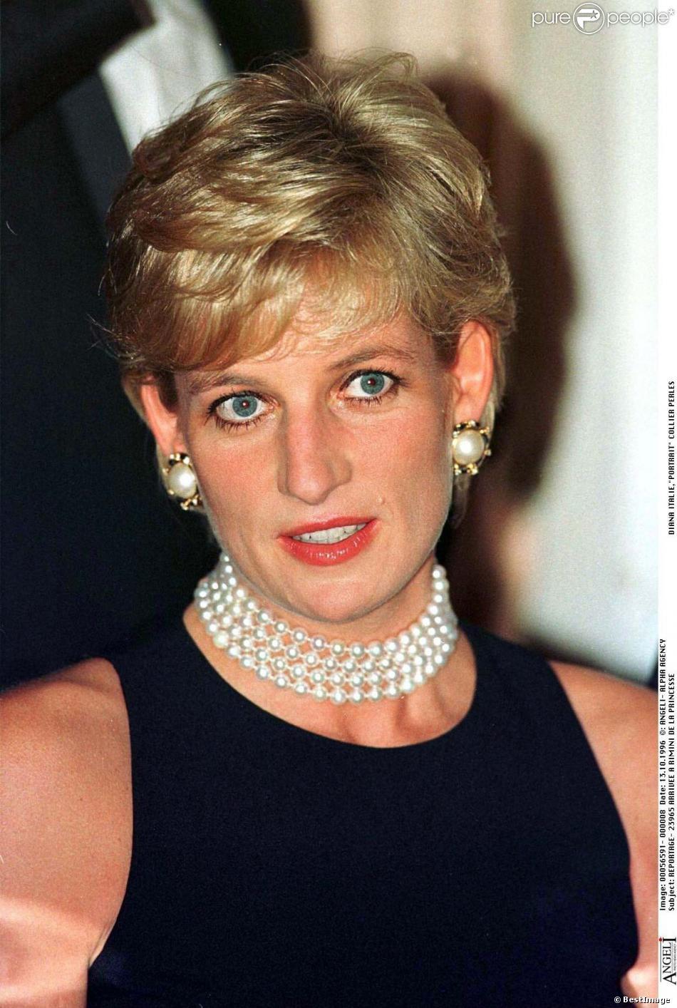 La princesse Diana à Rimini en Italie, le 13 octobre 1996.