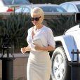 Pamela Anderson à Beverly Hills,le 5 février 2014.