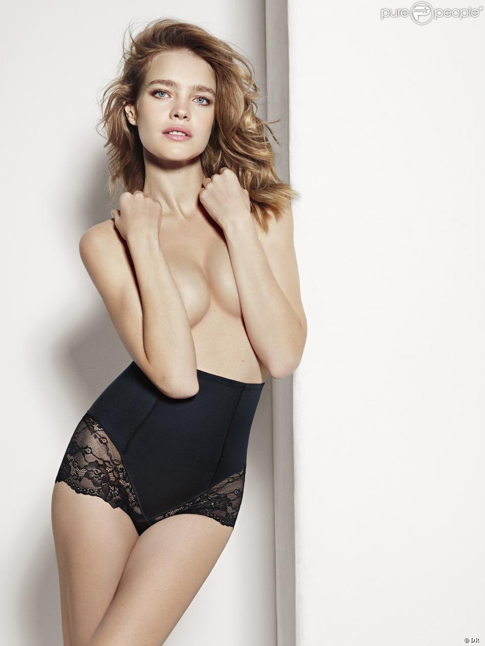 Natalia Vodianova, ultrasexy en lingerie pour Etam. Lookbook printemps-été 2014.