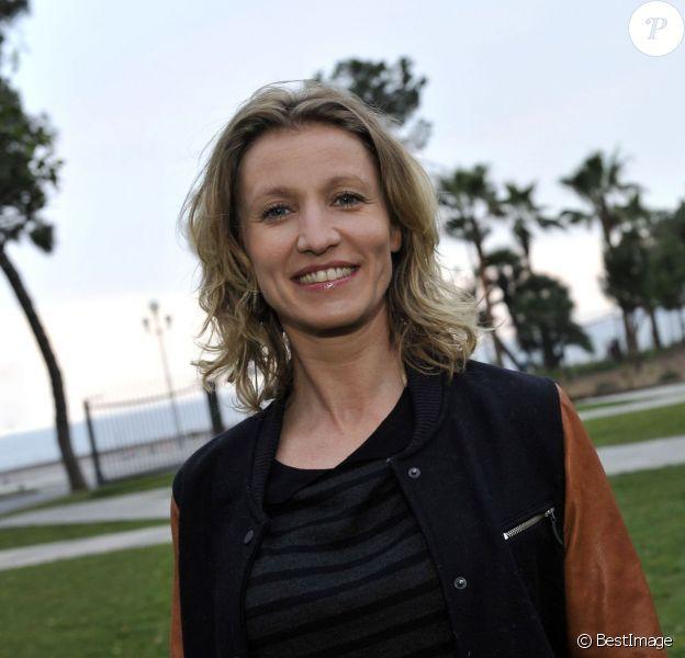 """Exclusif - L'actrice Alexandra Lamy est à Nice le 18 mars 2014, pour la présentation du film """"De Toutes Nos Forces"""" réalisé par Nils Tavernier."""