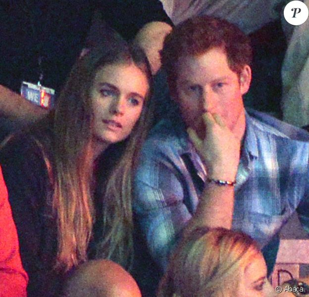 Le prince Harry et sa petite amie Cressida Bonas à Wembley lors du We Day, le 7 mars 2014 à Londres